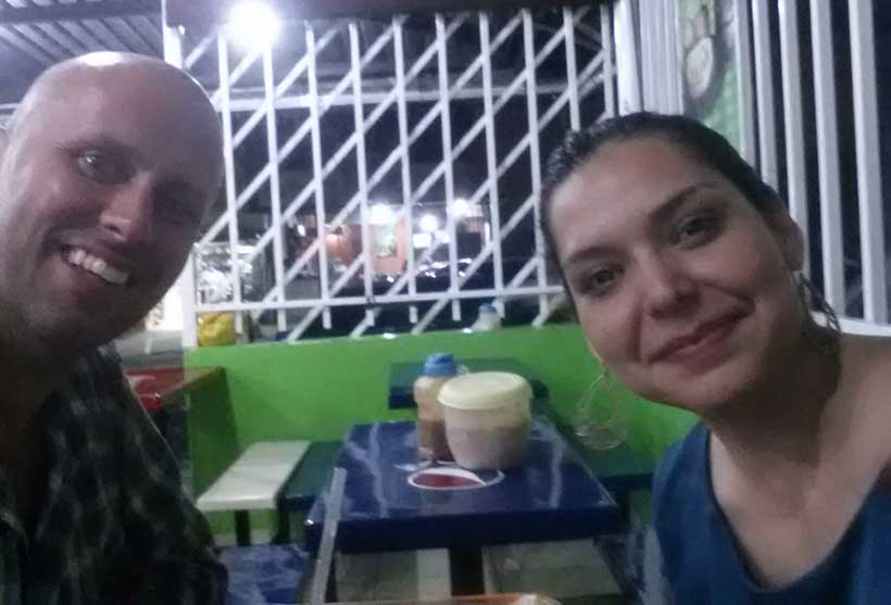 Discussing fish farming with a wonderful friend in El Salvador