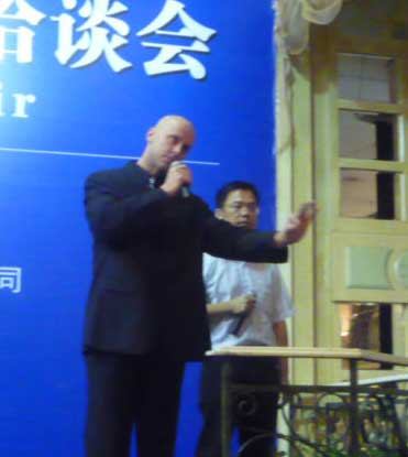 Speaking in China on the nutritional and environmental benefits of fish heads from Alaska