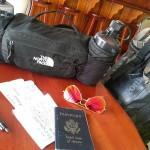 Taking a break during travel