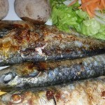 Whole sardines in Spain