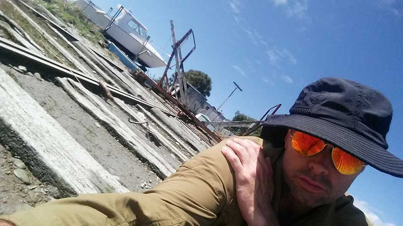 Looking at an abandoned shipyard in Westport NZ